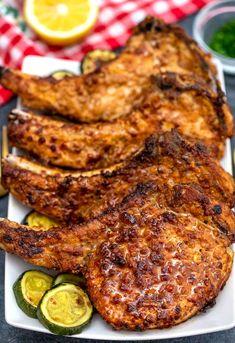 Air Fryer Recipes Pork Chops, Air Fry Pork Chops, Air Fryer Oven Recipes, Air Frier Recipes, Fried Pork Chops, Air Fryer Dinner Recipes, Pork Chops Bone In, Apple Pork Chops, Best Pork Chop Recipe