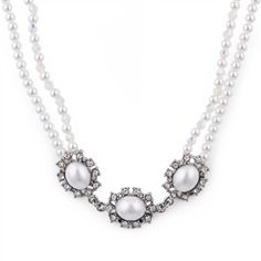 Antique Inspired Pearl Necklace