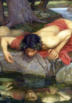 Echo and Narcissus (detail) 1903,John William Waterhouse. Love both the Greek myth & artist