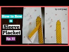 How To Sew Placket On A Sleeve   Sewing Tutorial