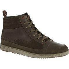 Shop Men's Cushe Burnside Boot Dark Brown/Gray - full-grain leather and upper suede