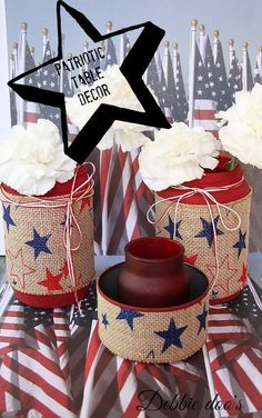 How to create patriotic table top on a friendly festive budget.