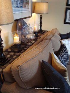 Black & Beige Living Room eklektisch-wohnbereich