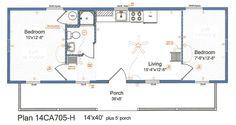 14x40 floor plans - Google Search