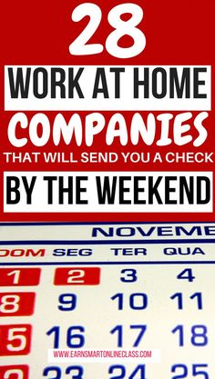 There are plenty of weekly paid jobs when you need quick cash. Here is a list of 28 work at home jobs that pay weekly or more often to start earning now. Ways To Earn Money, Earn Money From Home, Money Saving Tips, Way To Make Money, Make Money Online, Work From Home Companies, Work From Home Opportunities, Work From Home Tips, Business Opportunities