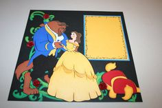 Beauty and the Beast 12 x 12 Double Page by PaperCraftsByViolet, $30.00