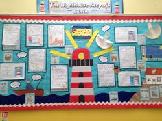 Lighthouse keepers lunch display Teaching Displays, Class Displays, School Displays, Library Displays, Classroom Displays, Reggio Classroom, Classroom Organisation, Classroom Themes, Lighthouse Keepers Lunch