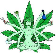 Lady Weed. Weed Lady.
