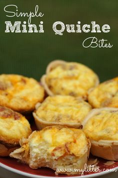 Simple Mini Quiche Bites Recipe {Easy Appetizer, Brunch, Breakfast, Snack!}