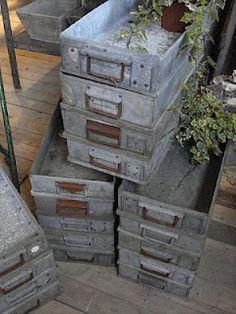 zinc boxes would make beautiful seed starting trays