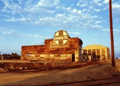 Old Santa Fe Roundhouse east of Oak Street was removed by those who didn't value its history. Bakersfield, California.