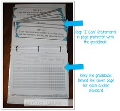 """Common Core """"I Can"""" statements and gradebook - how to keep them organized and display them"""