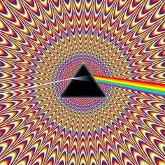 Pulsating Seizure Pink Floyd Illusion optical illusion