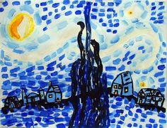 Artsonia Art Museum :: Artwork by Hogan27 - La nuit étoilée de Van Gogh