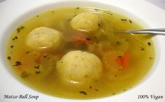 "Best Matzo Ball Soup: The matzo balls are served in a ""no-chicken ..."