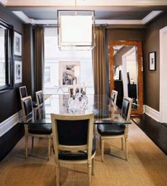 Dining Room:Elegant Lavish Design For Dining Room With Glass Dining Tabel And Classy Chairs With Cool Pendant Lamps Dining Room Designs for ...