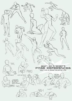 le corps, dans des positions autres que debout .