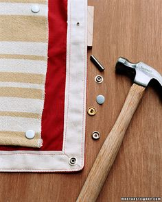 How to make a waterproof picnic blanket. Snaps together for easy washing. :D