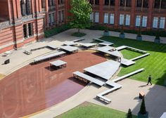 Aztec-inspired installation created for the V&A museum's central courtyard.