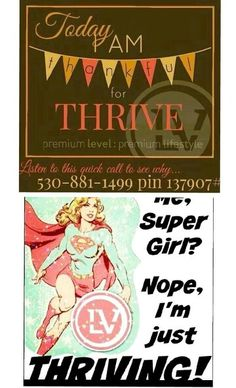 We have a lot to do today!!! I'm thankful THRIVE will get us through it ALL with the energy, calmness & focus we need!!! You'll LOVE THRIVE also!!! Call to listen and go to my website @ www.letyz_rocks.le-vel.com sign-up is FREE!!! Call, text, tweet or message me with questions or for more information about THRIVE!!!