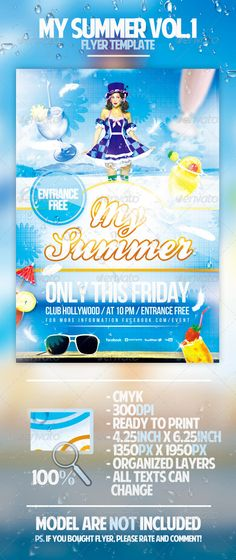 Summer Flyer Bundle Vol  Font Logo And Fonts