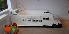 space shuttle bed
