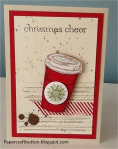 Spreading Christmas Cheer   Papercraft Button:  Gorgeous Grunge and Perfect Blend