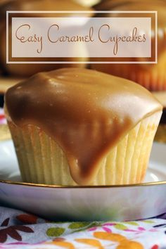 These buttermilk caramel cupcakes are the kind of thing that you can have a hankering for at 3pm and be eating by 4pm. They're a tasty, simple treat that you'll find yourself making over and over again because they are just so deliciously accessible. Also… there's caramel frosting dripping down the sides.