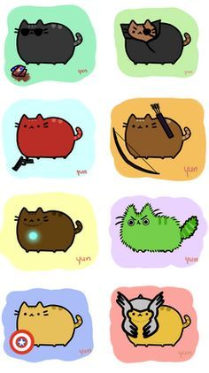 avengers cats / pusheen