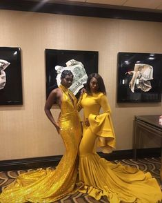 God made yellow for black girls! Prom Girl Dresses, Prom Outfits, Homecoming Dresses, Cute Dresses, Beautiful Dresses, Prom Goals, Prom Night, African Dress, African Fashion