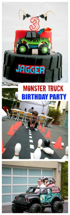Monster Truck Party Birthday Party Ideas Monster Trucks