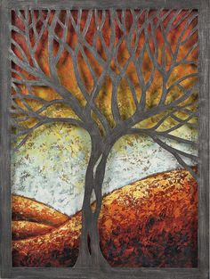 Whitney Autumn Scene Metal Wall Decor