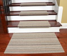 Merveilleux Dean Premium Pet Friendly Tape And Adhesive Free Non Slip Bullnose Wool  Carpet Stair Treads