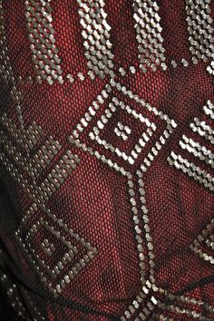 Detail from 1960s VINTAGE DRESS MADE FROM A 1920s ASSUIT SHAWL