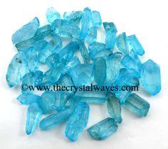 vAqua Aura Dyed Crystal Quartz A Grade Raw Chunks