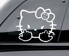 Hello Kitty Monical And Mustach Decalhello Kitty Decals Hello - Hello kitty car decal stickers