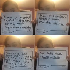 I am a mental health advocate, living with depression and anxiety. 20% of Canadians struggle with mental illness. Awareness and education play a big role in reducing stigma and finding help. So, let's talk! Use the hashtag #bellletstalk on twitter and Instagram today and bell will donate 5 cents to mental health initiatives. And bell will also donate 5 cents to each text message sent through their provider. #bellletstalk #mentalhealth #endthestigma #depression #anxiety #mentalhealthawareness