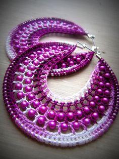 Best crochet for beginners mittens patterns 57 ideas Mittens Pattern, Knit Mittens, Bead Crochet, Crochet Earrings, Earing Holder, Tatting Jewelry, Lace Headbands, Crochet Patterns For Beginners, Fabric Jewelry
