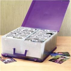 "Archival safe photo storage case holds over 2,000 4x6"" photos."