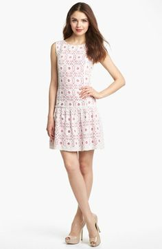 Kensie Lace Drop Waist Dress available at #Nordstrom