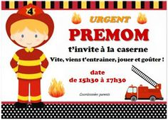 Arrange and simmer: DIY Anniversary firefighter 4 years - card Birthday Cards For Boys, 3rd Birthday, Fireman Party, Peppa Pig, Kids And Parenting, Firefighter, Cool Kids, Ronald Mcdonald, Anniversary