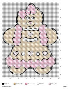 GINGERGIRL *PINK ICING* by KATHY -- WALL HANGING