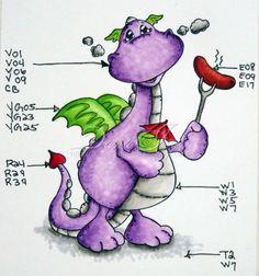 Copic color combos - Dragon!