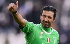Download wallpapers Buffon, goalkeeper, Juve, italian football player, portrait, Juventus, Gianluigi Buffon, Italy, soccer goalkeeper, Serie A, Bianconeri