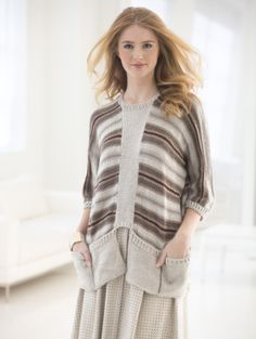 Image of Pocketed Pullover - turn into a reading or knitting wrap/cardigan