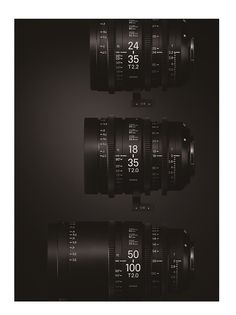 Sigma gets into the cinema lens game starting with 18-35mm T2 and 50-100mm T2…