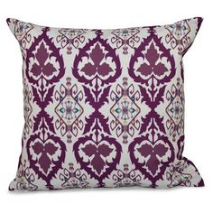 E by Design Happy Hippy Bombay Decorative Pillow Purple - PGN538PP2PU5-16, Durable