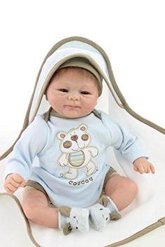 SanyDoll Reborn Baby Doll Soft Silicone 18inch 45cm Magnetic Mouth Lovely Lifelike Cute Boy Girl Toy Lovely Blue Baby SanyDoll http://www.amazon.com/dp/B00Y7P48IE/ref=cm_sw_r_pi_dp_TV-axb1ENAAY6