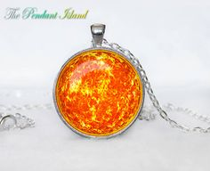 SUN Pendant SUN Necklace Galaxy necklace Space pendant