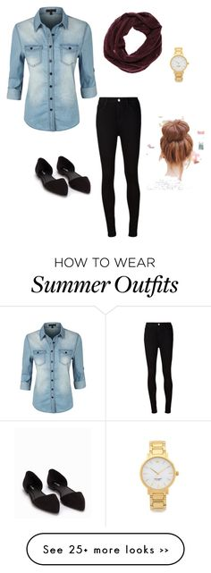 """outfit 2"" by miavuckovic on Polyvore featuring LE3NO, AG Adriano Goldschmied, ONLY, Kate Spade and Nly Shoes"